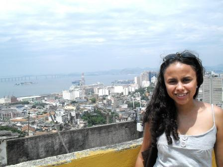 A estudante Ivilaine no Morro da Providência