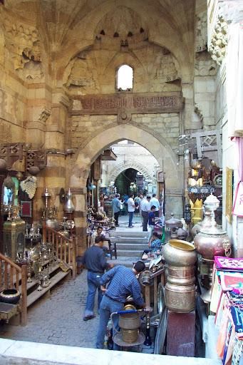 Calles del bazar de Al Khalili en el Cairo