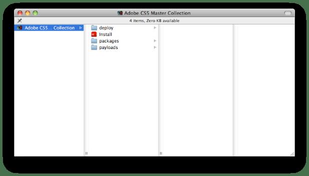 Adobe CS5 Master Collection Disc Folder