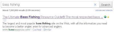 Google search result, rank 1
