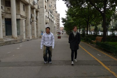 Walking to parliment. We only had 4 hours there and had heard the palace is huuuuge