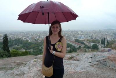 Great view over Athens. Steph was so excited!!!!