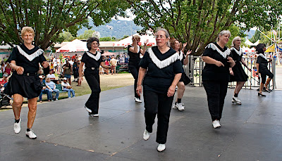 Diablo Mountain Cloggers dancing at the fair.