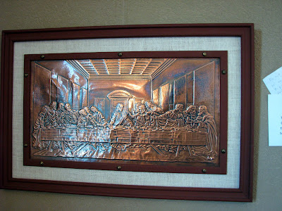 Copper Last Supper Art