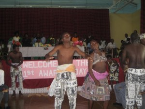There was some entertainment during the ceremony with dancers. Note that in an all-boys school some cross-dressing is required to do the women's part of the dance.