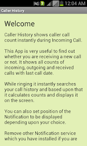 Caller History screenshot 1