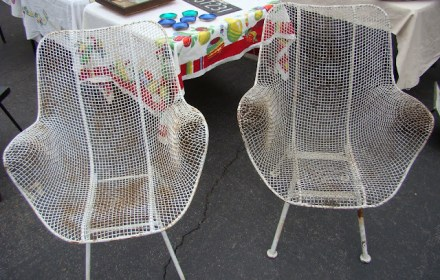 the estate of things chooses vintage wire garden chairs