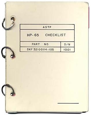 HP-65 ASTP checklist