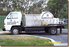 tampa roof cleaning truck