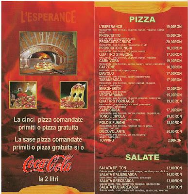 Pizza L'Esperance Bucuresti