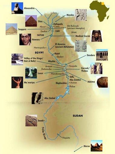 mapa Egiptu