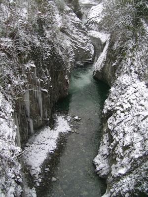 Orrido di Ponte Oscuro con la Neve