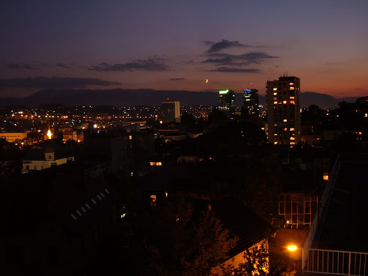 Sarajevo by Night from Bens Terrace