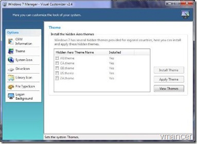 windows 7 manager visual customizer