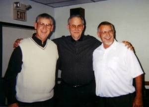 George Madzia with brothers Michael and Philip