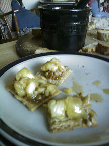 Baked brie and crackers. Just a serving suggestion.