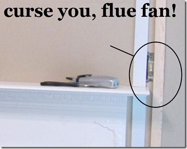 hiding tv cords in trim flue fan switch