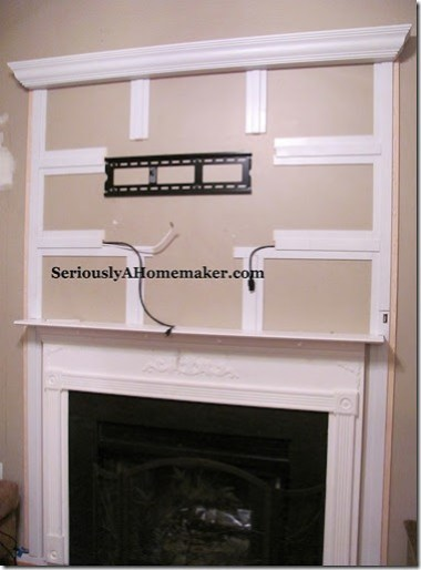hiding TV cords in trim with wires