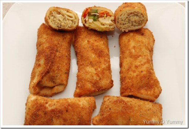 Chicken, Veg and Meat Rolls