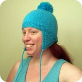 earflap hat turquoise 1