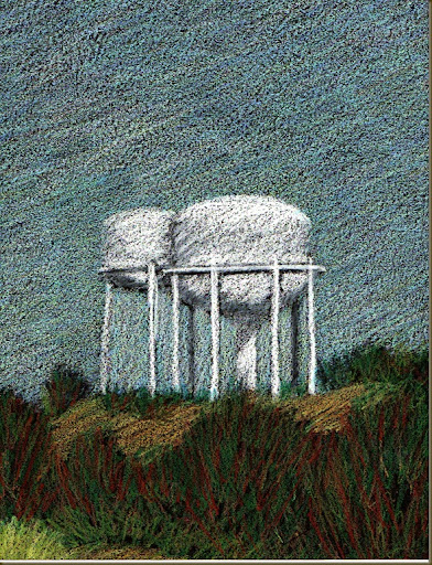 water tower drawing two