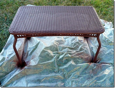 Spray Paint Plastic Wicker Patio Table