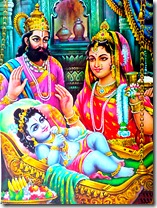 Baby Rama with parents