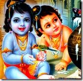 Krishna and Balarama as children