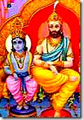 Maharaja Dashratha with son, Lord Rama