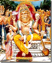 Narasimha Deva blessing Prahlada