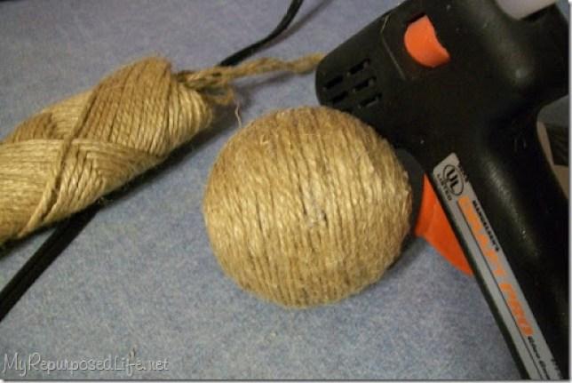 diy decorative jute balls