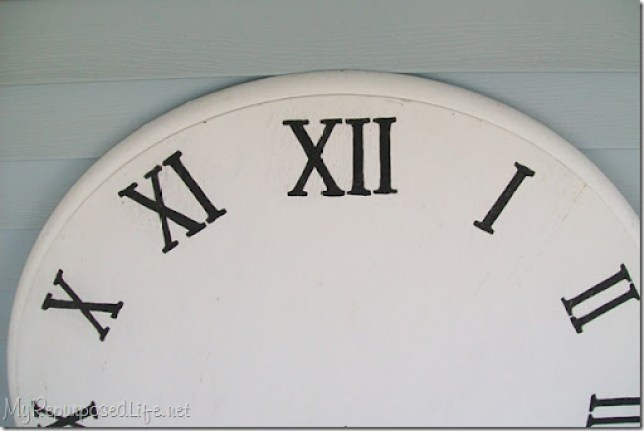 making a faux clock from an old kitchen table top