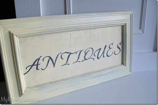make your own easy diy antiques sign