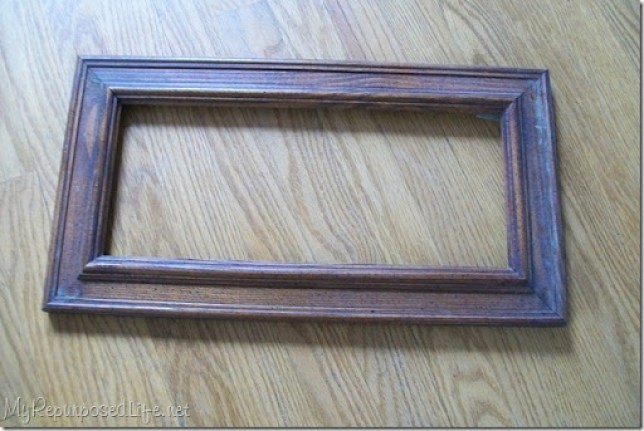 wooden thrift store frame