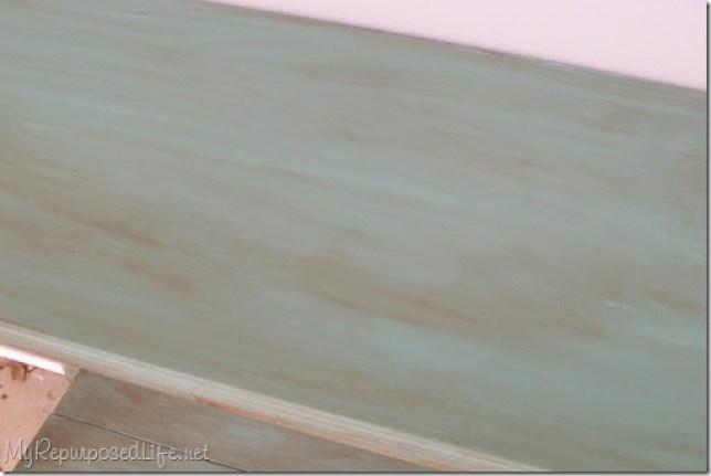 how to glaze a table