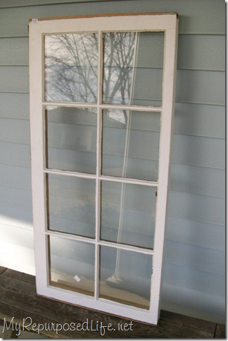 repurposed window (cabinet)