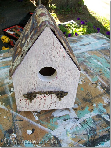 birdhouse crackle finish license plate