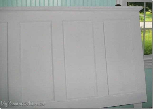 headboard made from a door