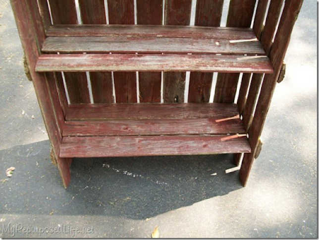 picket fence shelf