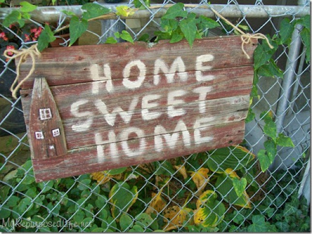 rustic home sweet home sign