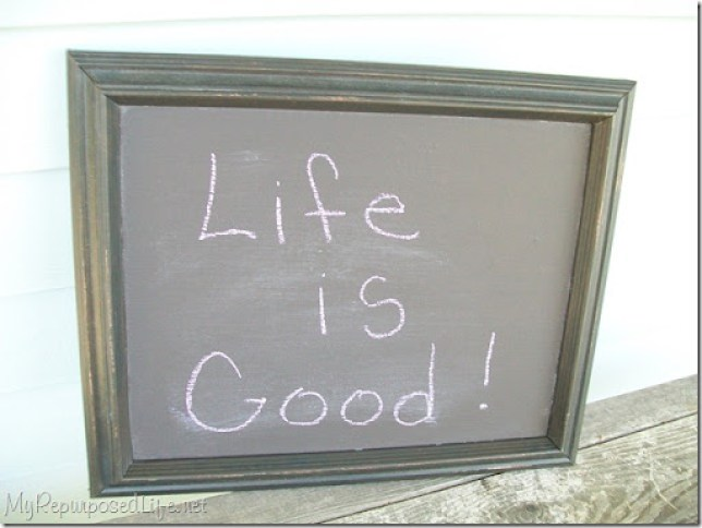 make your own chalkboard thrift store frame