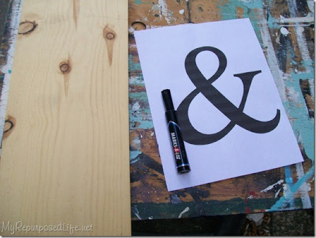 how to make a wooden ampersand