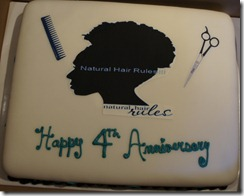 Natural Hair Rules cake