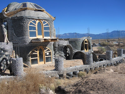Earthship under construction