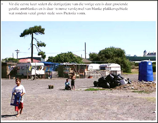 AfrikanerPoor More than 70 squatter camps with poor whites in Pretoria alone Aug2010