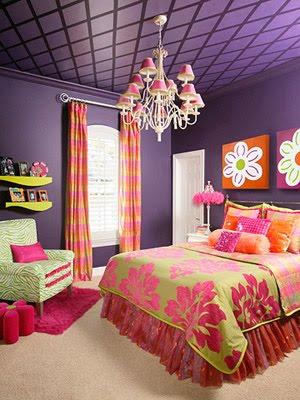 Idea para combinar colores rosa lila naranja y verde