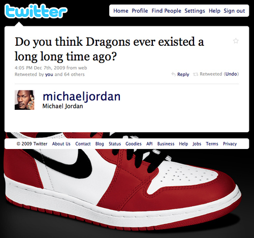 michael jordan tweet dragons