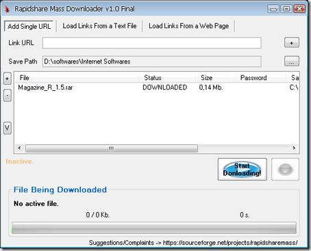 rapidshare mass downloader