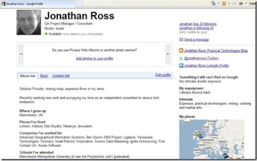 My google profile
