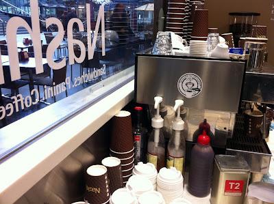 Coffee machine at the Nashi coffee shop
